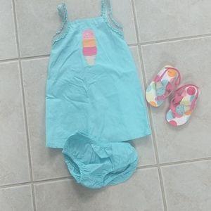Girls 18-24m summer icecream cone dress set